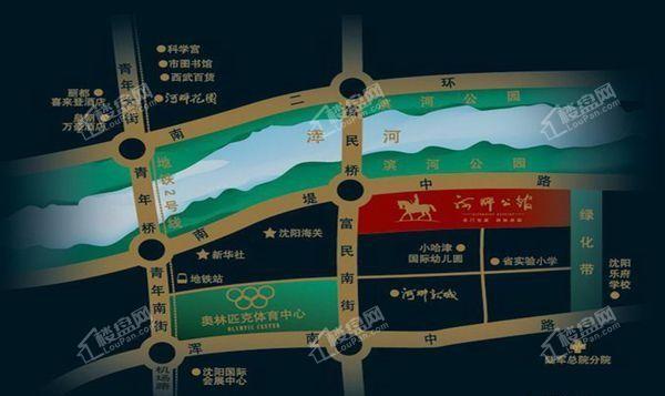 河畔新城品尚位置图
