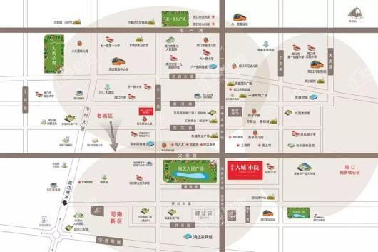 建业大城小院交通图