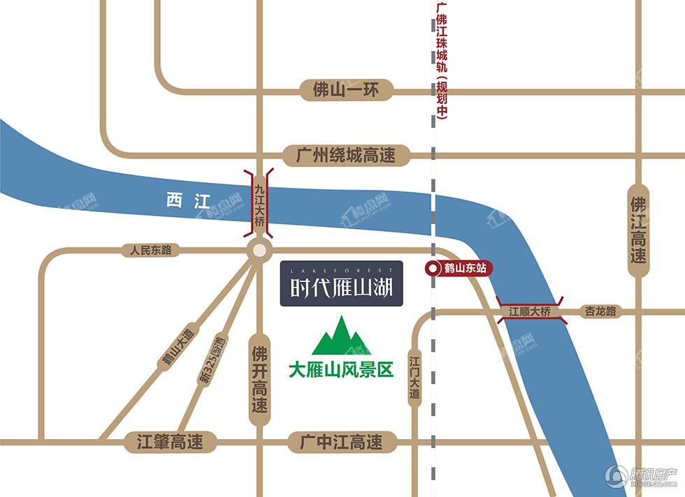 时代雁山湖位置图