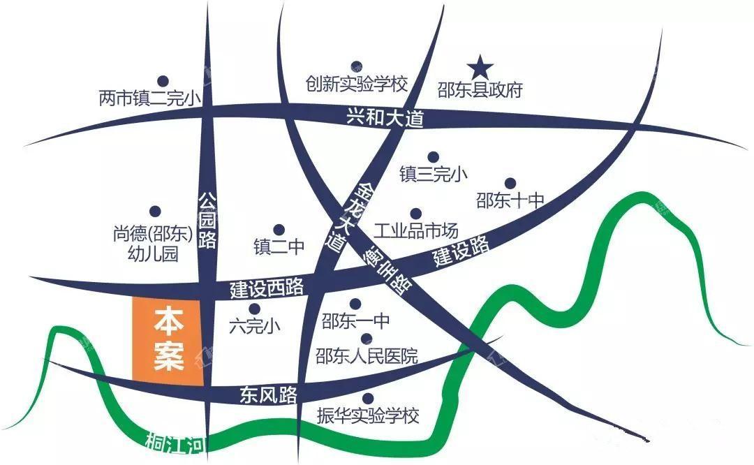 东昇·桐江水岸位置图