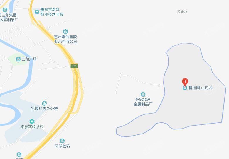 碧桂园山河城位置图