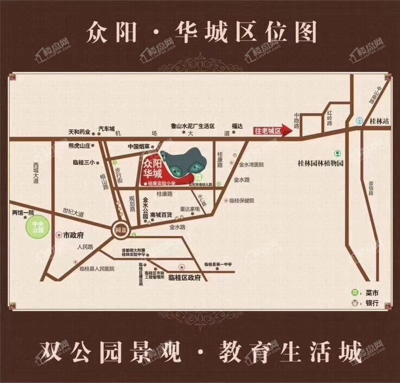 众阳华城位置图