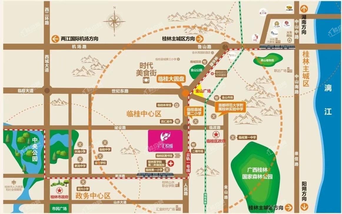 广汇汇悦城位置图