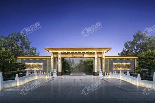 泰禾广州院子大门入口夜景