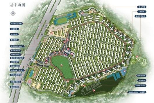 泰禾广州院子项目总规划平面