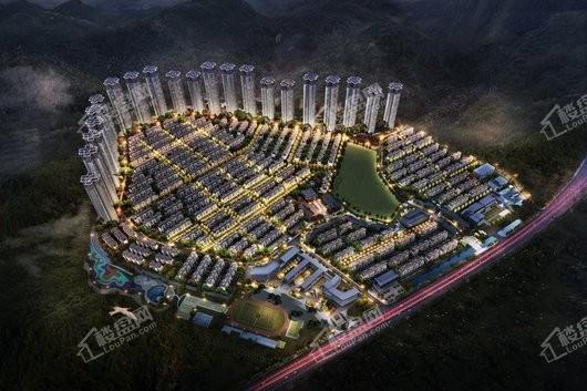 泰禾广州院子项目夜景鸟瞰