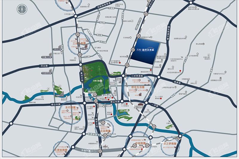 万科首府未来城位置图