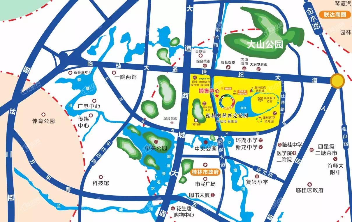桂林奥林匹克花园位置图