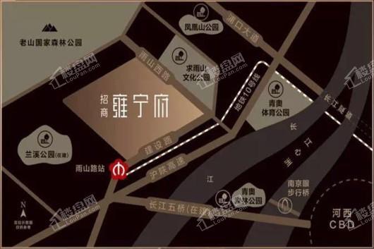 招商雍宁府交通图
