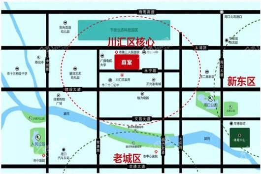 亿祥首府交通图