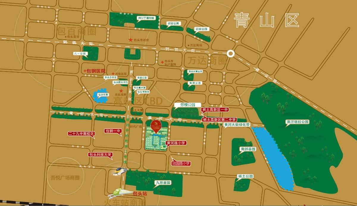 三江·尊园别墅位置图