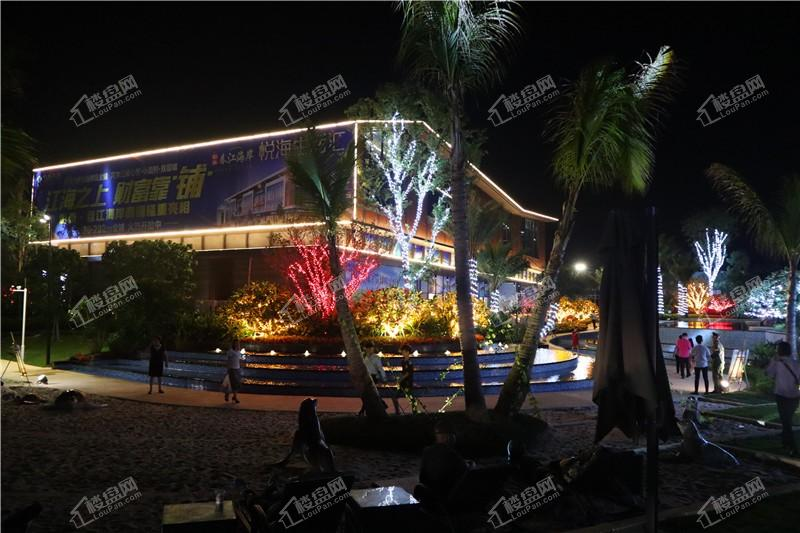 彰泰春江海岸夜景
