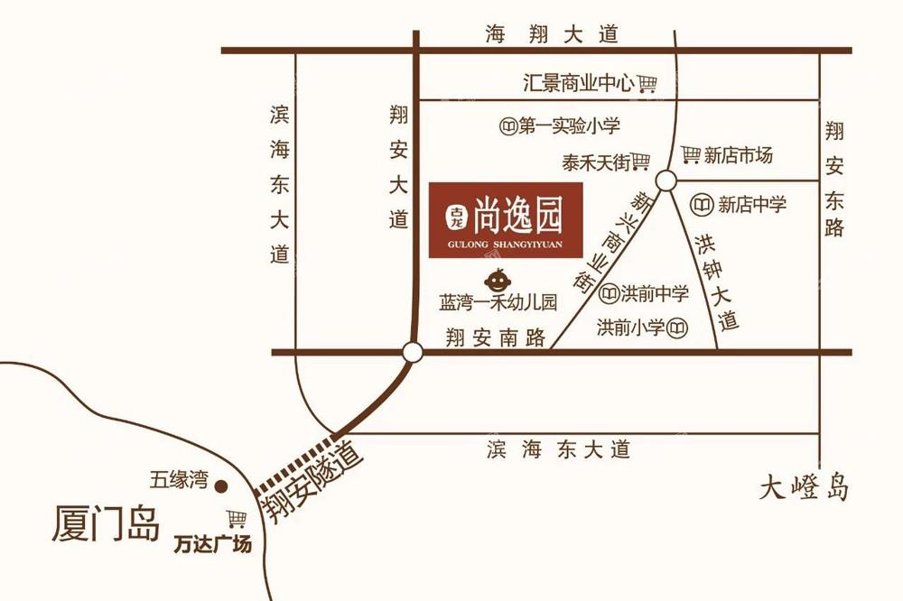 古龙尚逸园位置图