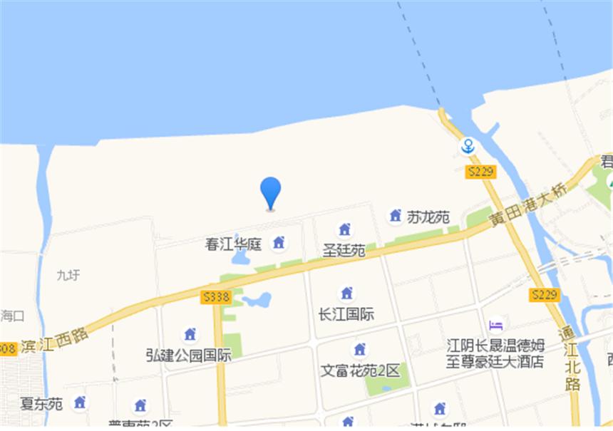 蔚蓝滨江位置图