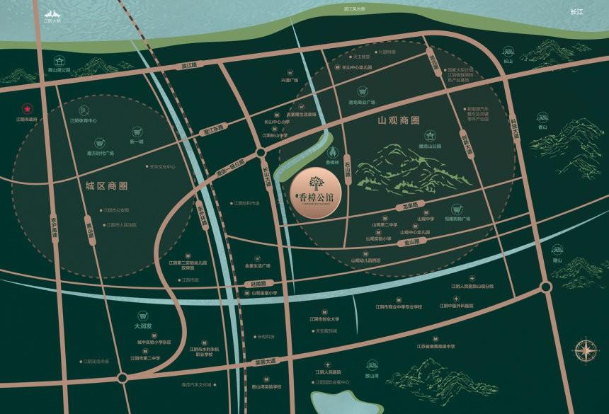 绿城东方香樟公馆配套图