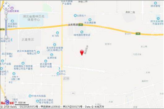 碧桂园光谷十里春风交通图