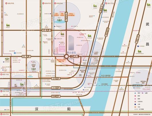 塔尖观邸交通图