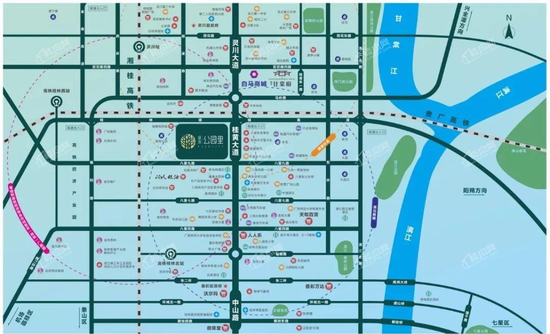绿涛公园里位置图