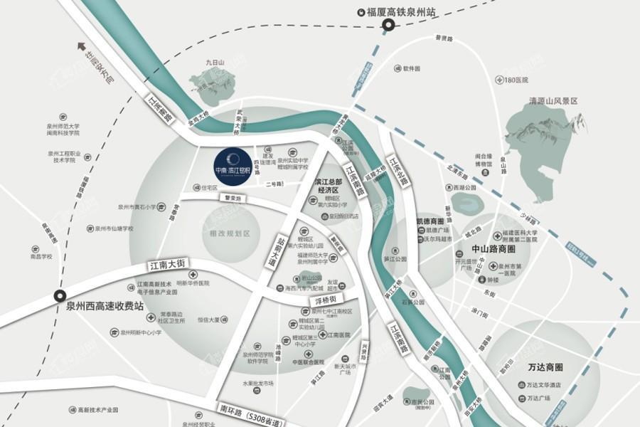 中南滨江铭悦位置图