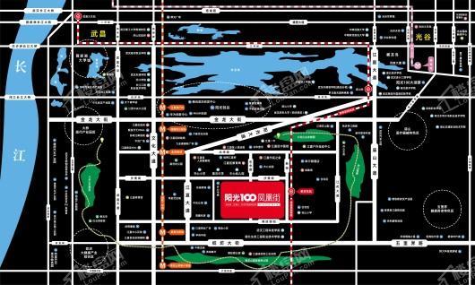 阳光100凤凰街位置图