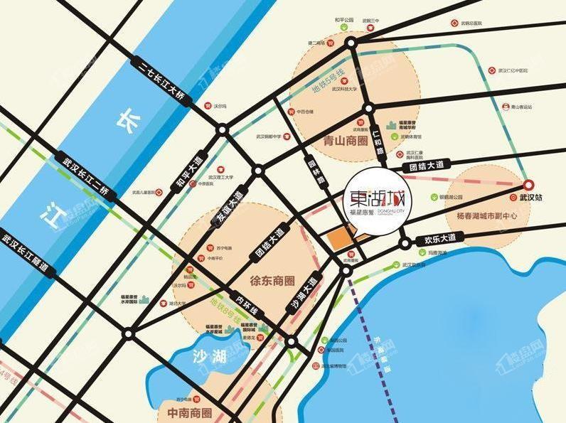 福星惠誉东湖城位置图