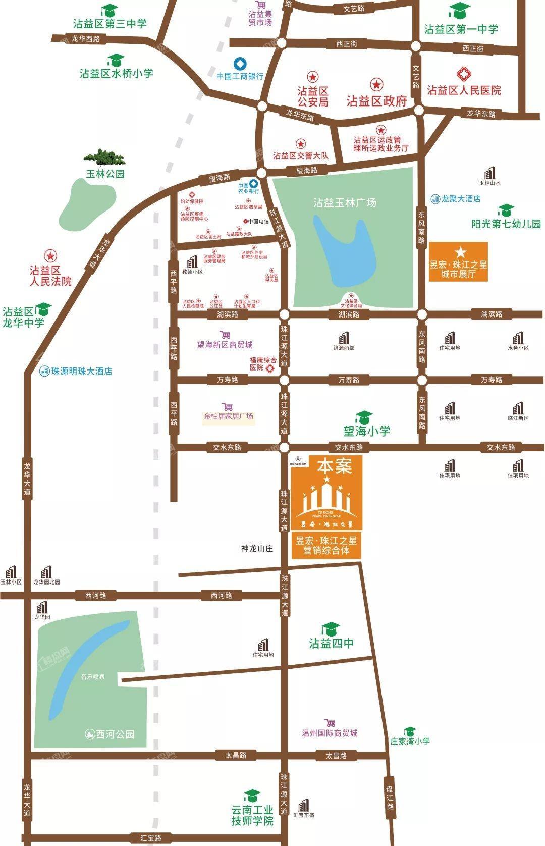 昱宏·珠江之星位置图