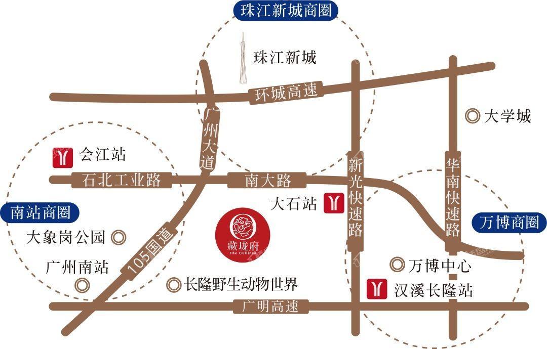 碧桂园藏珑府位置图