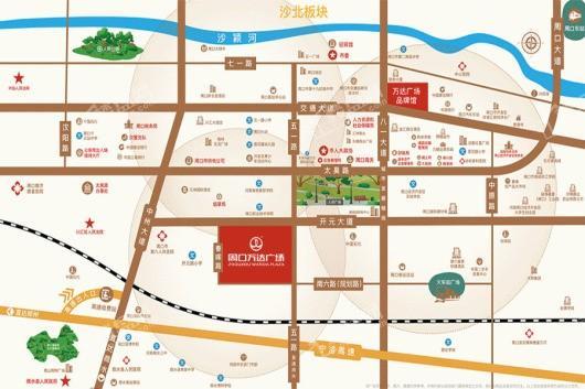 周口万达广场交通图