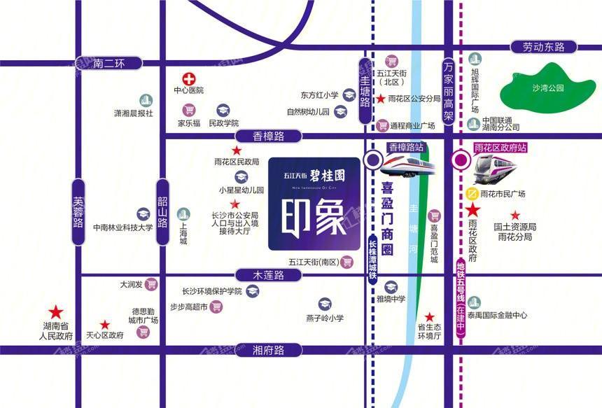 碧桂园印象位置图