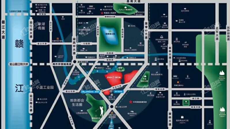 九颂山河时代城位置图