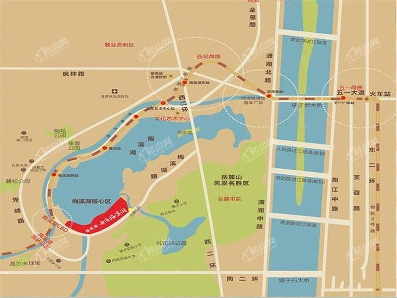 佳兆业云顶梅溪湖位置图