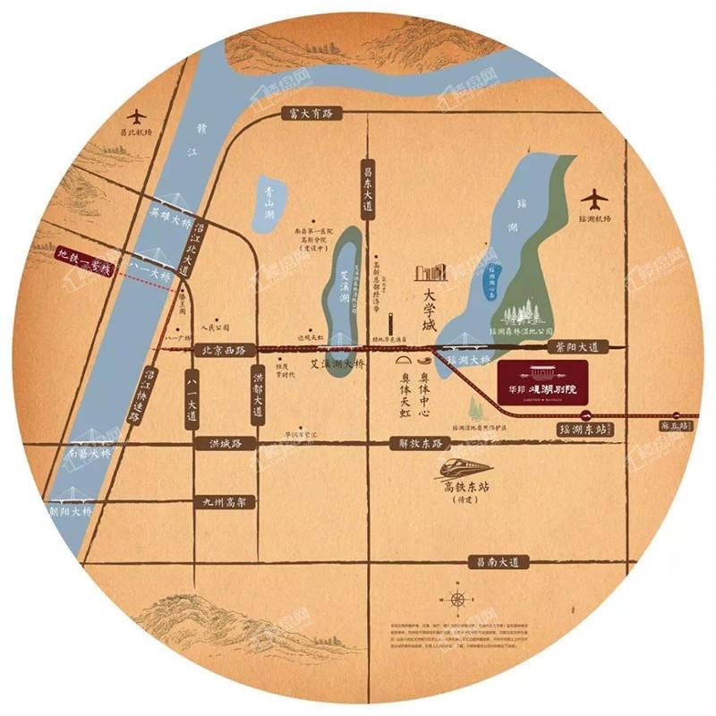 华邦观湖别院位置图