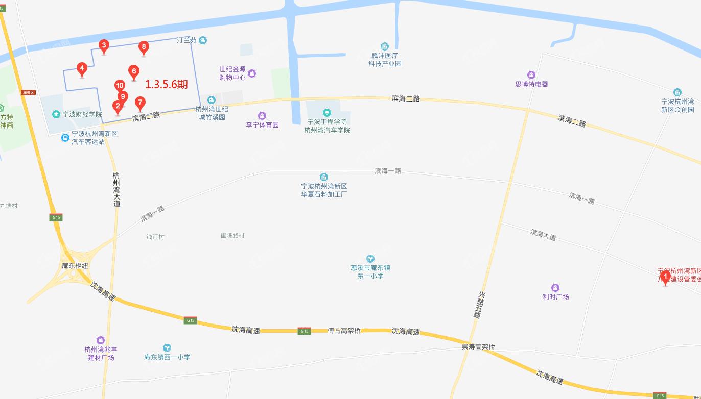 宁波合生杭州湾国际新城位置图