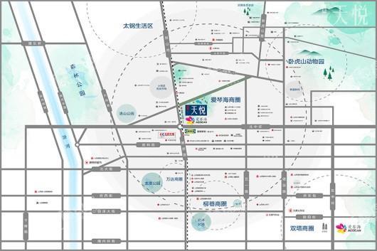 红星天悦交通图