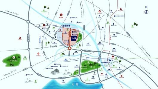 红星天铂交通图