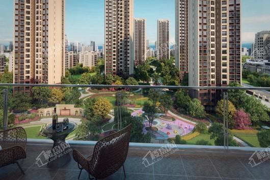 中国铁建领秀公馆小区阳台景观