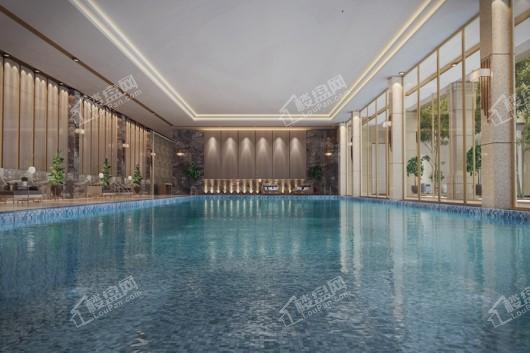 中国铁建领秀公馆小区游泳池