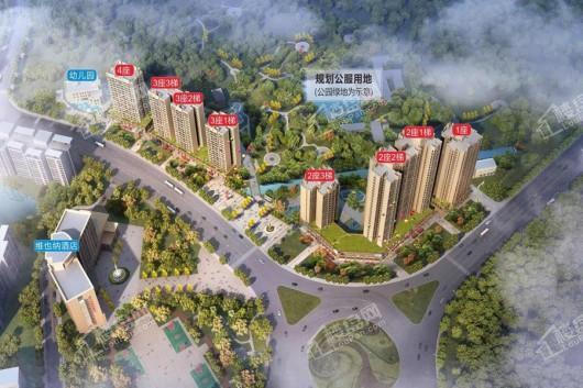 时代绿庭山语楼栋规划图