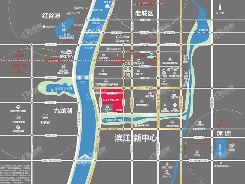 濱江上品位置圖