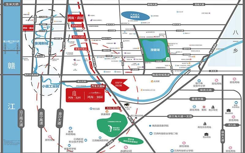 鸿海润园位置图