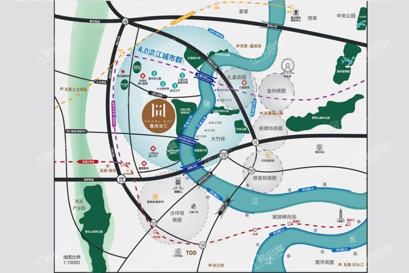 嘉阅滨江位置图