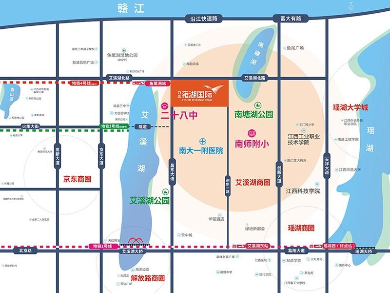 力高雍湖国际位置图