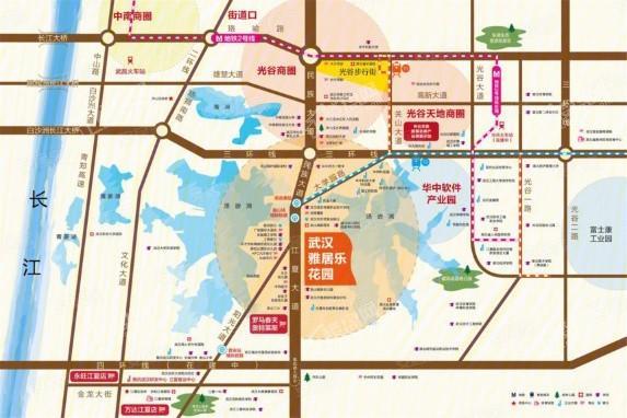 武汉雅居乐花园位置图