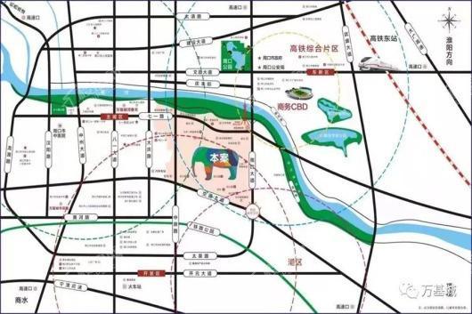 万基城交通图