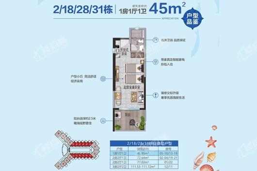 鼎龙湾国际海洋度假区户型图