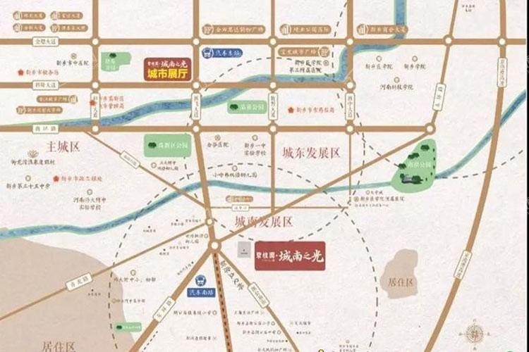 碧桂园城南之光位置图