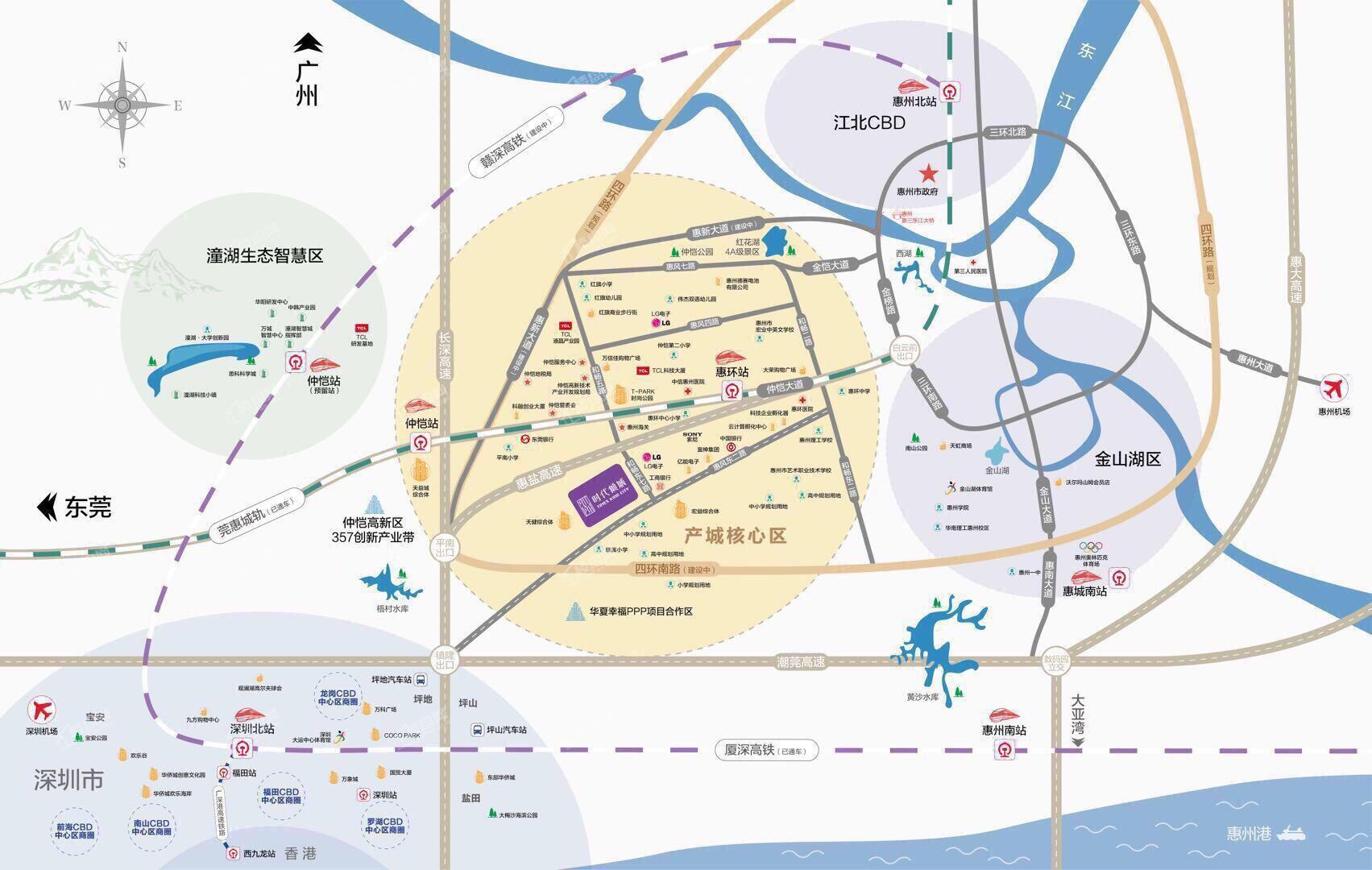 时代倾城位置图