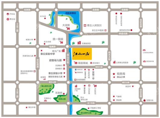 江山一品交通图