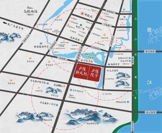 庐陵院子交通图