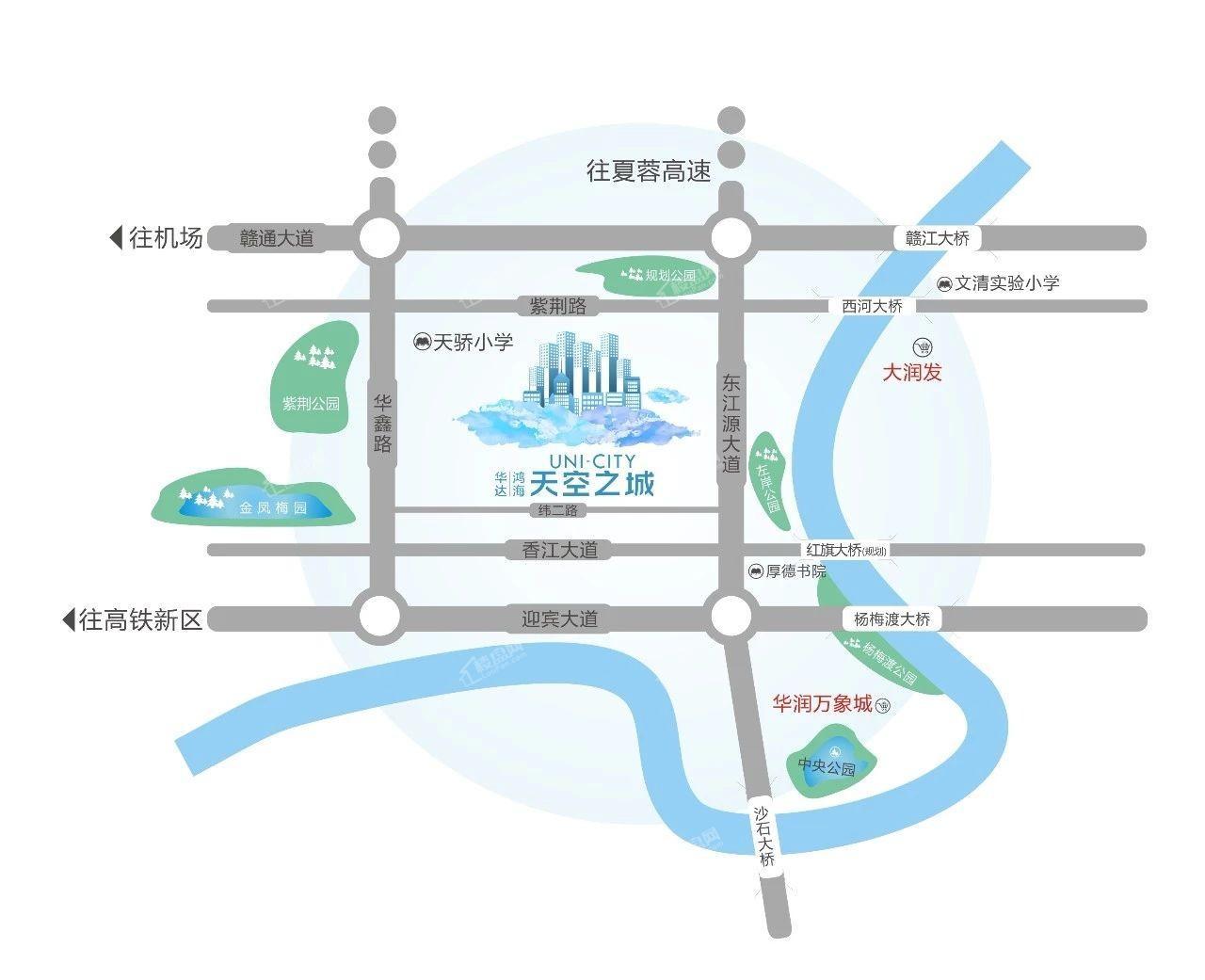华达鸿海天空之城位置图